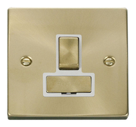 Scolmore Click Deco Satin Brass Ingot Switched Spur VPSB751WH
