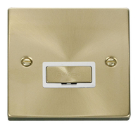Scolmore Click Deco Satin Brass Ingot Unswitched Spur VPSB750WH