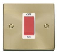 Scolmore Click Deco Satin Brass 45A DP Switch VPSB200WH