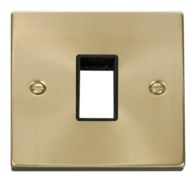 Click Deco Satin Brass 1G Aperture Single Plate VPSB401