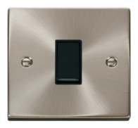 Click Deco Satin Chrome 10AX 1G 2 Way Switch VPSC011