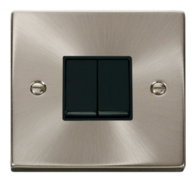Click Deco Satin Chrome 10AX 2G 2 Way Switch VPSC012