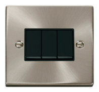 Click Deco Satin Chrome 10AX 3G 2 Way Switch VPSC013