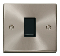 Click Deco Satin Chrome 10AX 1G Intermediate Switch VPSC025