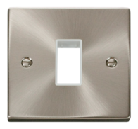 Click Deco Satin Chrome 1G Aperture Single Plate VPSC401
