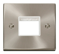 Click Deco Satin Chrome 1G Twin Aperture Plate VPSC402