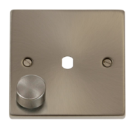Scolmore Click Deco Satin Chrome 1 Gang Dimmer Plate Only VPSC140PL