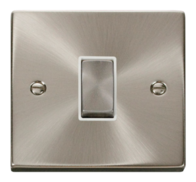 Click Deco Satin Chrome Light Switch 1 Gang 2Way VPSC411