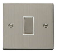 Scolmore Click Deco Stainless Steel Ingot Light Switch 1 Gang 2Way VPSS411