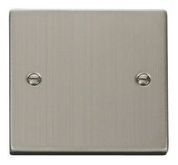 Scolmore Click Deco Stainless Steel Single Blank VPSS060