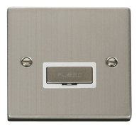 Scolmore Click Deco Stainless Steel Ingot Unswitched Spur VPSS750WH