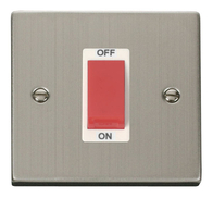 Click Deco Stainless Steel 1G 45Amp Switch VPSS200WH