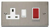 Click Deco Stainless Steel 45Amp Cooker Control Switch VPSS204WH