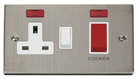 Click Deco Stainless Steel 45Amp Cooker Control Switch with Neon VPSS205WH