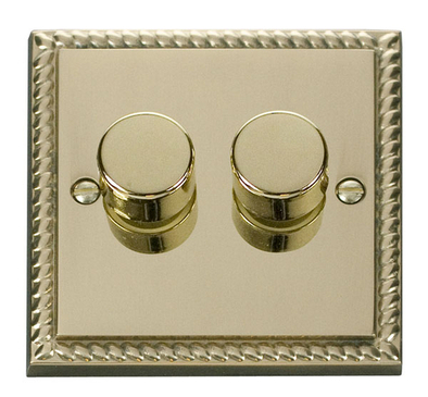 Scolmore Click Deco Georgian Style Dimmer 2 Gang 400W GCBR152