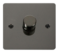 Click Define Flat Plate Black Nickel 1 Gang 2Way Dimmer 400W FPBN140