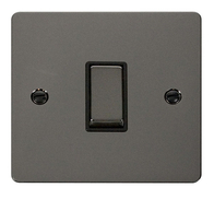 Click Define Flat Plate Black Nickel 1 Gang 2Way Switch FPBN411