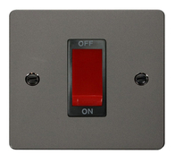 Click Define Flat Plate Black Nickel 1 Gang 45A DP Switch FPBN200