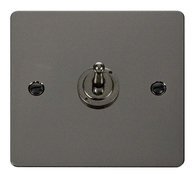 Click Define Flat Plate Black Nickel 1Gang 2Way Toggle Switch FPBN421