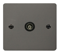 Click Define Flat Plate Black Nickel Coaxial Socket FPBN065