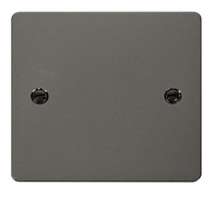Click Define Flat Plate Black Nickel Single Blank Plate FPBN060