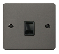 Click Define Flat Plate Black Nickel Single BT Master Socket FPBN120