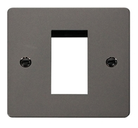 Click Define Flat Plate Black Nickel Single Euro Plate FPBN310