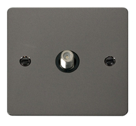 Click Define Flat Plate Black Nickel Single Satallite Socket FPBN156