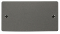 Click Define Flat Plate Black Nickel Twin Blank Plate FPBN061