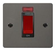 Click Define Flat Plate Black Nickel1Gang 45A DP Switch With Neon FPBN201