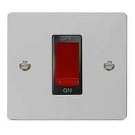 Click Define Flat Plate Polish Chrome 1 Gang 45A DP Switch FPCH200BK