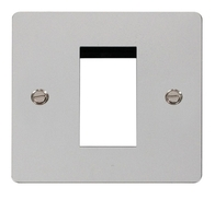 Click Define Flat Plate Polished Chrome Single Euro Plate FPCH310