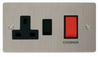 Click Define Flat Plate Stainless Steel 45A Cooker Control Unit FPSS204BK