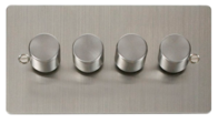 Click Define Flat Plate Stainless Steel 4Gang 2Way Dimmer 400W FPSS154