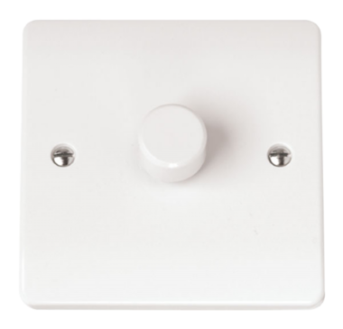 Click Scolmore Mode 1 gang 2 way 400W Dimmer Switch CMA140