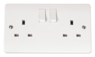 Click Scolmore Mode 13A DP Switched  Double Socket CMA036