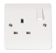 Click Scolmore Mode 1gang 13A DP Switched  Single Socket CMA035