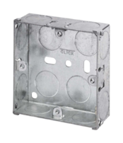 Click Scolmore Mode 1Gang 25mm Deep Galvanised Steel K.O. Box WA093