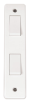 Click Scolmore Mode 2gang 2way Architrave Light Switch CMA172