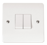 Click Scolmore Mode 2gang 2way Light Switch CMA012