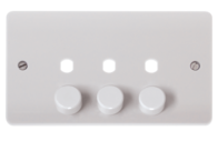 Click Scolmore Mode 3 gang 2 way Dimmer Plate CMA147PL