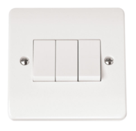 Click Scolmore Mode 3gang 2way Light Switch CMA013
