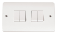 Click Scolmore Mode 4gang 2way Light Switch CMA019