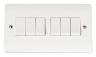 Click Scolmore Mode 6gang 2way Light Switch CMA105