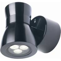 Collingwood LED Pillar Light Mains Black WL175A