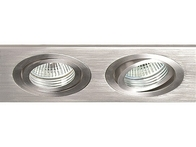 Collingwood Twin Downlight Tilt Brushed Aluminium Downlight LV220
