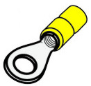 Crimp Yellow Ring Terminal 5mm Hole