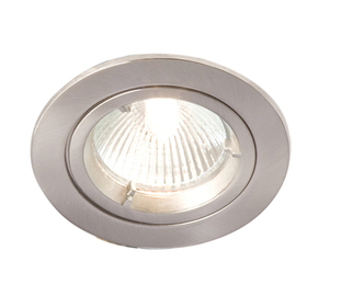 Downlight 240V Tilt Brushed Chrome Robus R208SCN-13