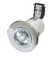Fire Rated Downlights GU10 Tilt Chrome RF208-03