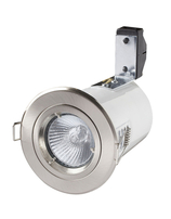 Fire Rated Downlights Low Voltage 12V Tilt Brushed Chrome RF108-13